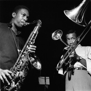 John Coltrane and Lee Morgan improvise