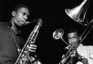 John Coltrane and Lee Morgan improvise